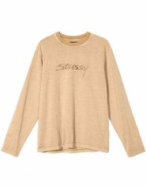 Stussy River longsleeve - khaki Stussy T-shirt 88,52€