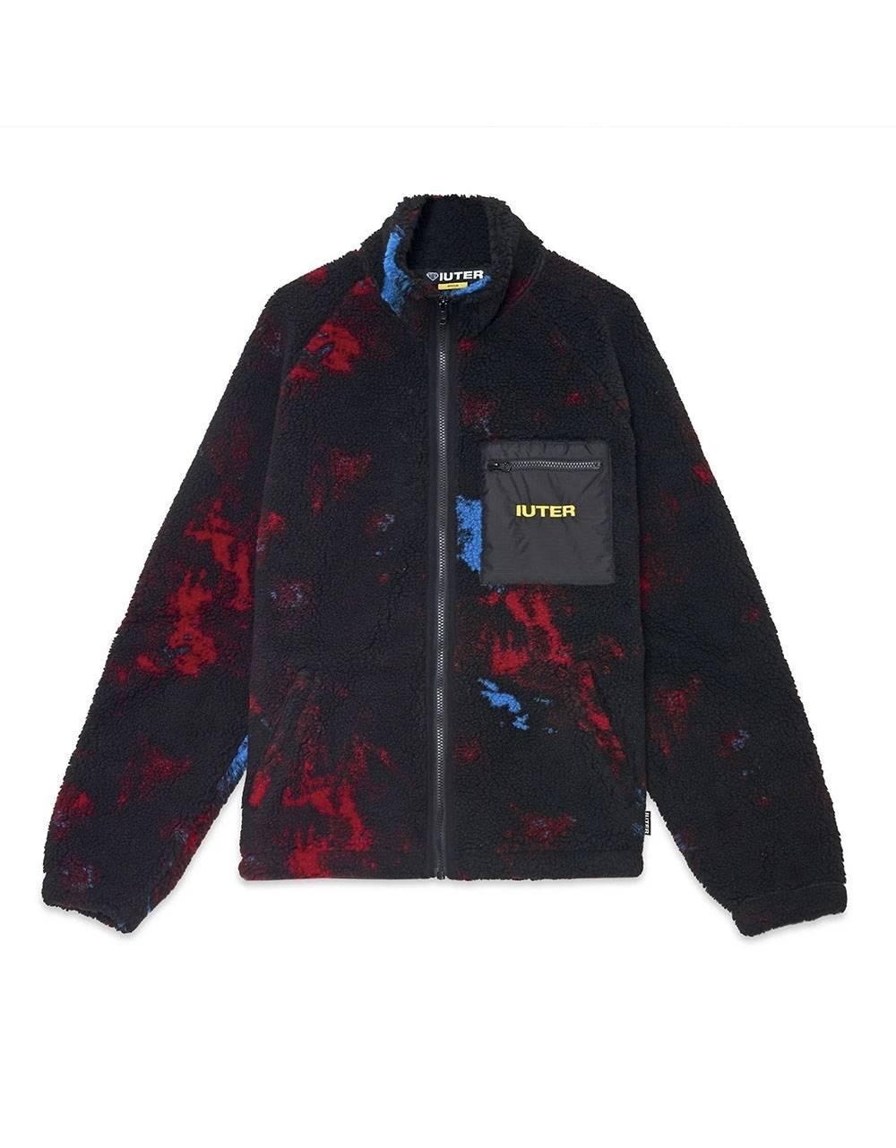 Iuter Tie dye fur zip neck collar sweatshier - Multicolor IUTER Sweater 138,52€