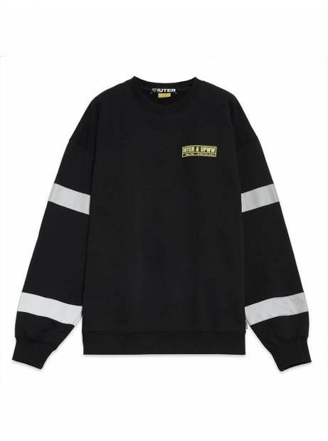 Iuter x U.P.W.W. crewneck sweater - Black IUTER Sweater 119,00€