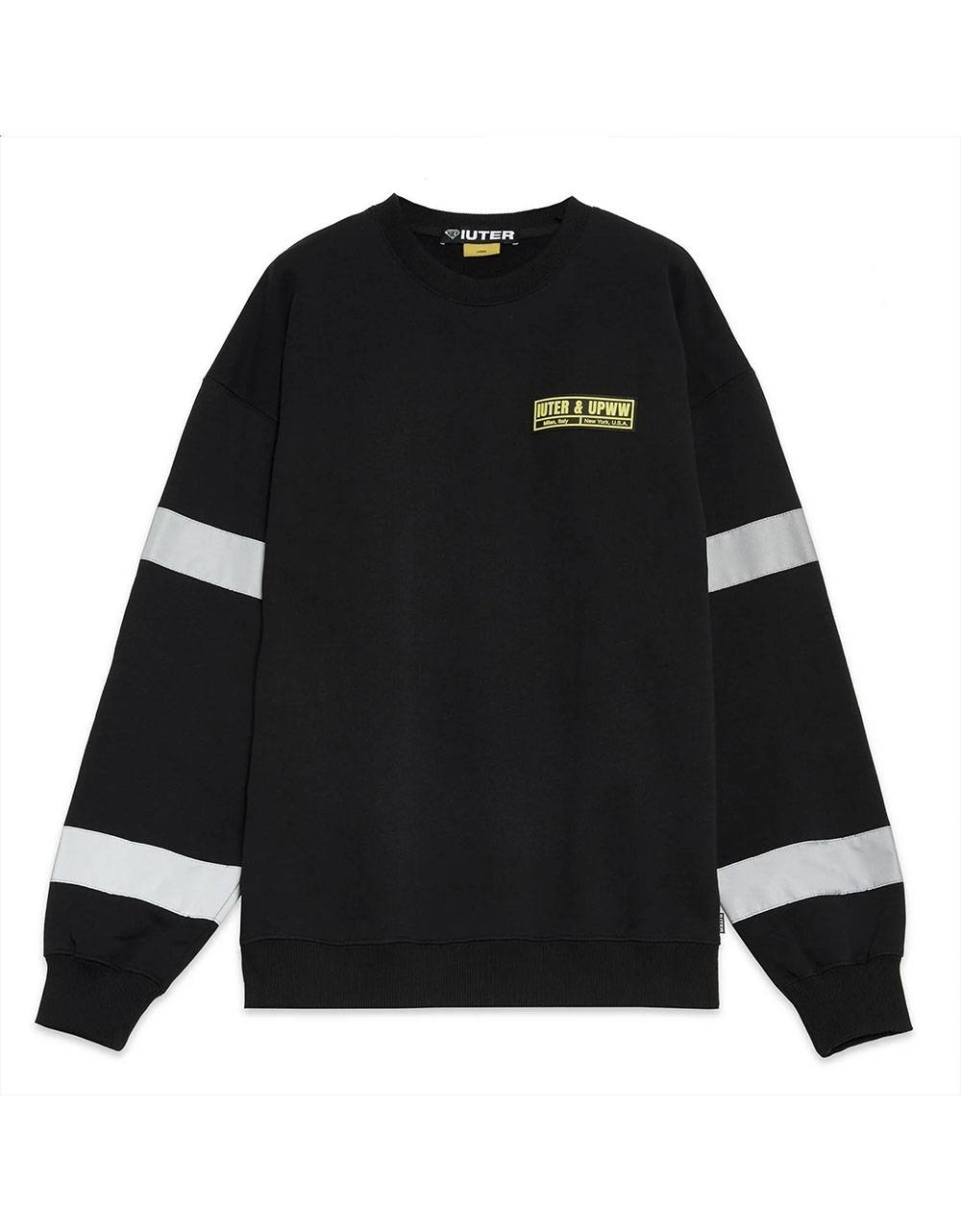 Iuter x U.P.W.W. crewneck sweater - Black IUTER Sweater 129,00 €