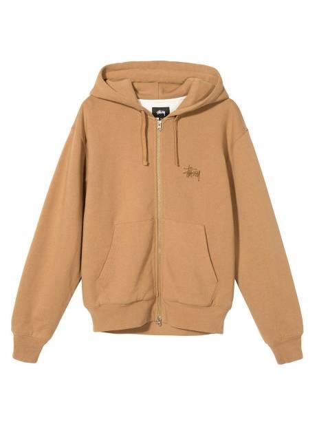 Stussy Thermal zip hoodie - brown Stussy Sweater 175,00€