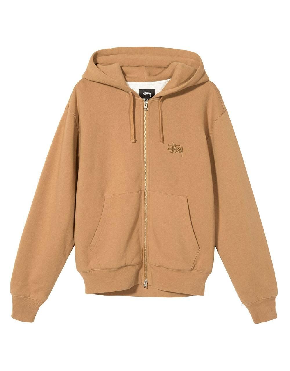 Stussy Thermal zip hoodie - brown Stussy Sweater 169,00€