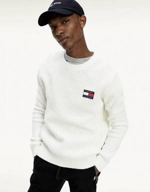 Tommy Jeans Badge knit sweater - ecru Tommy Jeans Knitwear 91,80 €