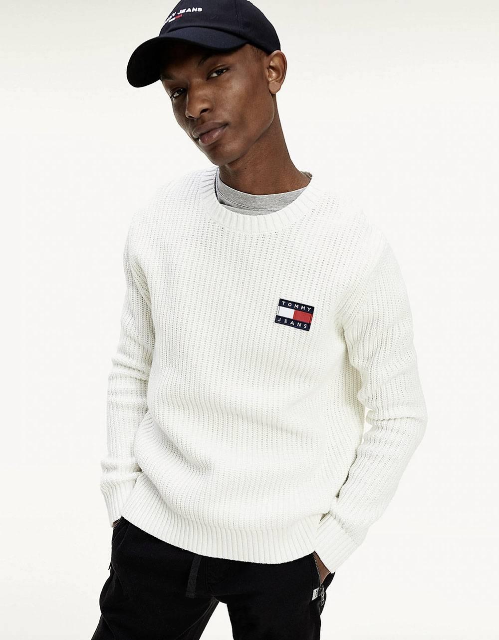 Tommy Jeans Badge knit sweater - ecru Tommy Jeans Knitwear 91,80€