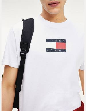 Tommy Jeans small flag tee - white Tommy Jeans T-shirt 49,00 €