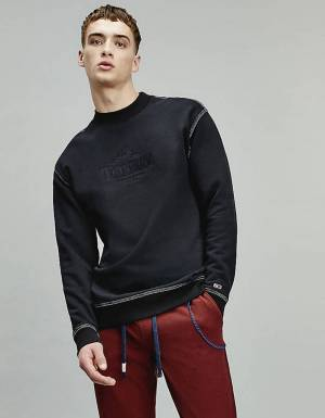 Tommy Jeans Tonal graphic crewneck sweater - black Tommy Jeans Sweater 90,16 €