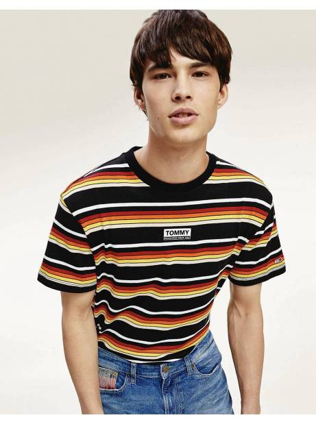 Tommy Jeans Yarn dye stripe tee - black/multi Tommy Jeans T-shirt 45,00 €