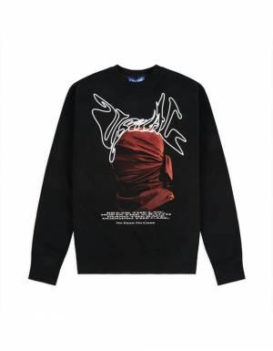 Usual Bataclava crewneck sweater - black Usual Sweater 70,49€