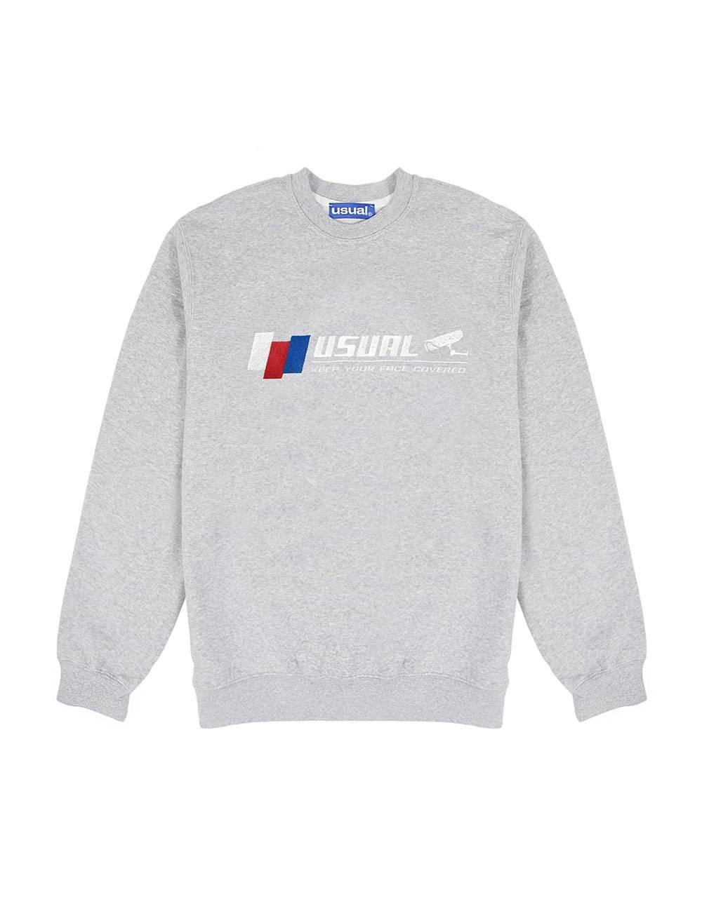 Usual CCTV crewneck sweater - melange grey Usual Sweater 96,00€