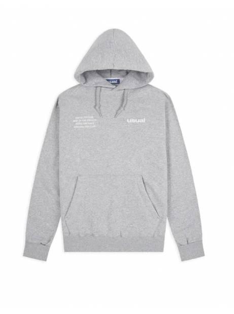 Usual Run outline hoodie - melange grey Usual Sweater 78,69€