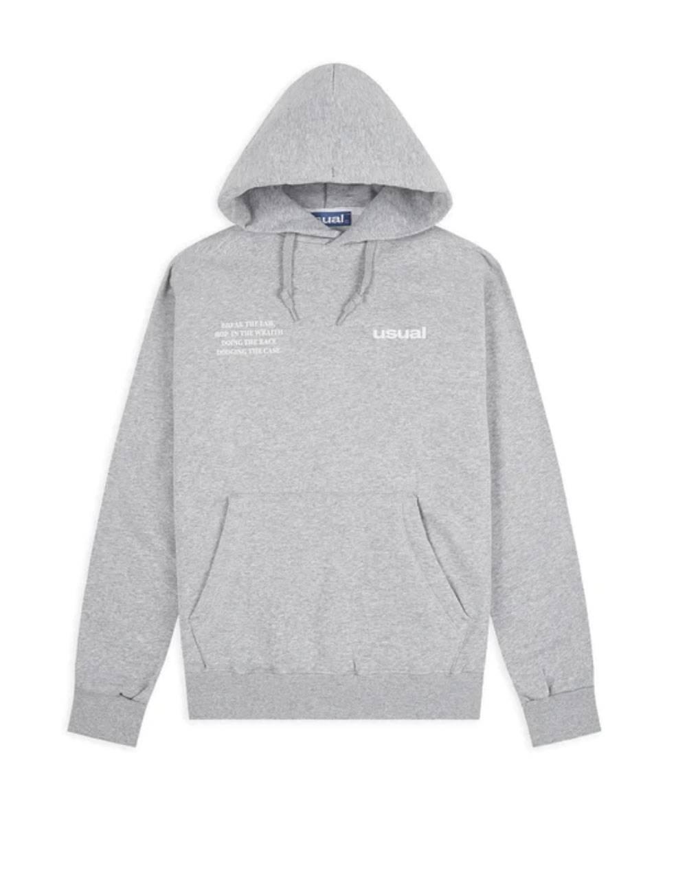 Usual Run outline hoodie - melange grey Usual Sweater 72,95€