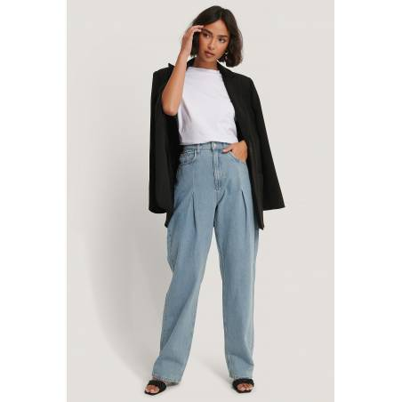 NA-KD wide leg pleat denim - light denim NA-KD Jeans 72,95€
