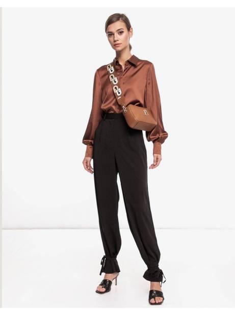NA-KD tied cuff pants - black NA-KD Pants 75,00€