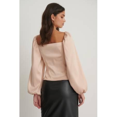 NA-KD balloon sleeve cut out top - dusty pink NA-KD Shirt 48,36€
