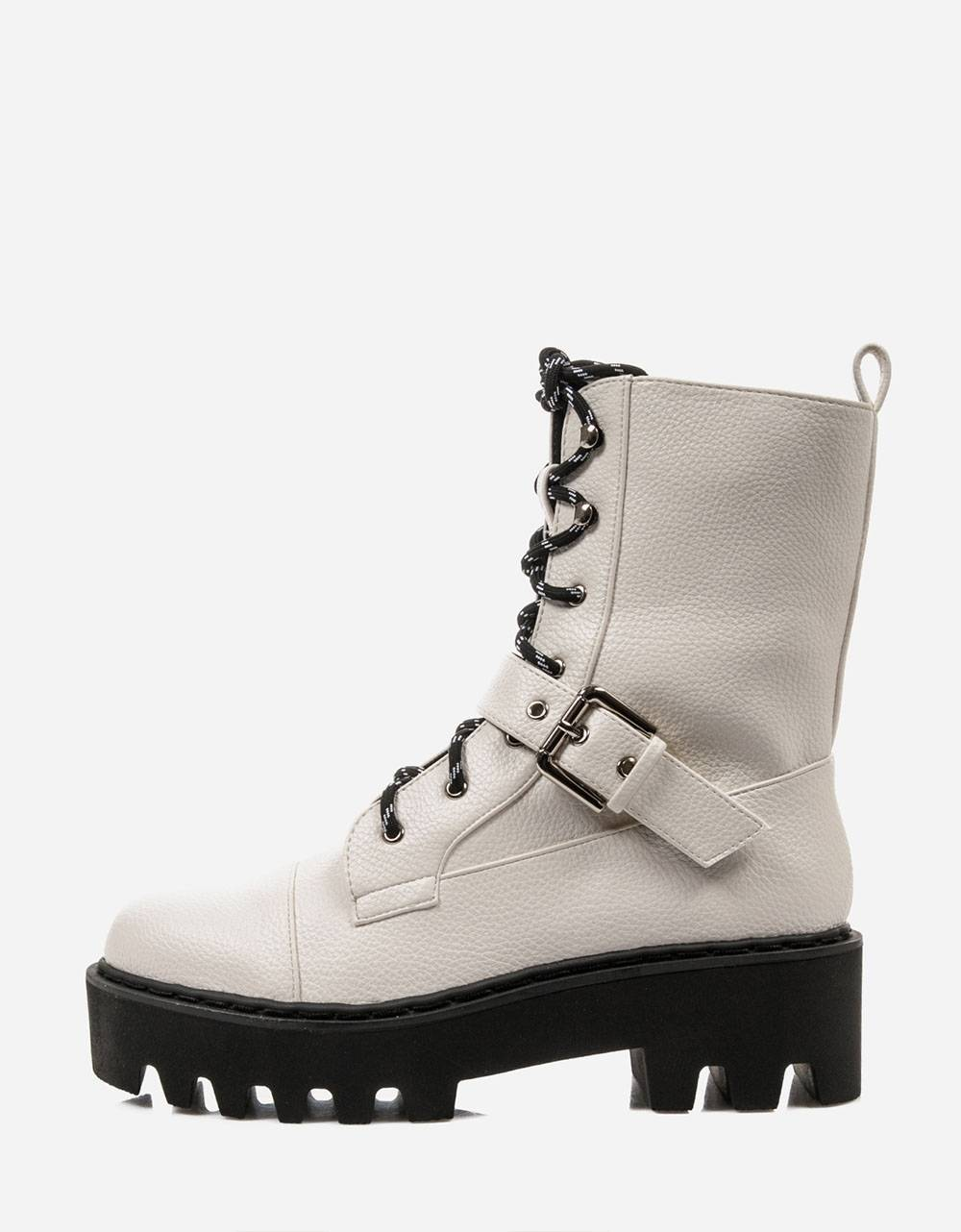 NA-KD basic lace up combat boots - off white NA-KD Other shoes 72,95 €
