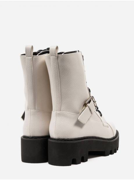 NA-KD basic lace up combat boots - off white NA-KD Other shoes 89,00€