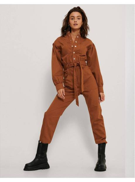 NA-KD colored denim jumpsuit - rust NA-KD Jeans 85,00€