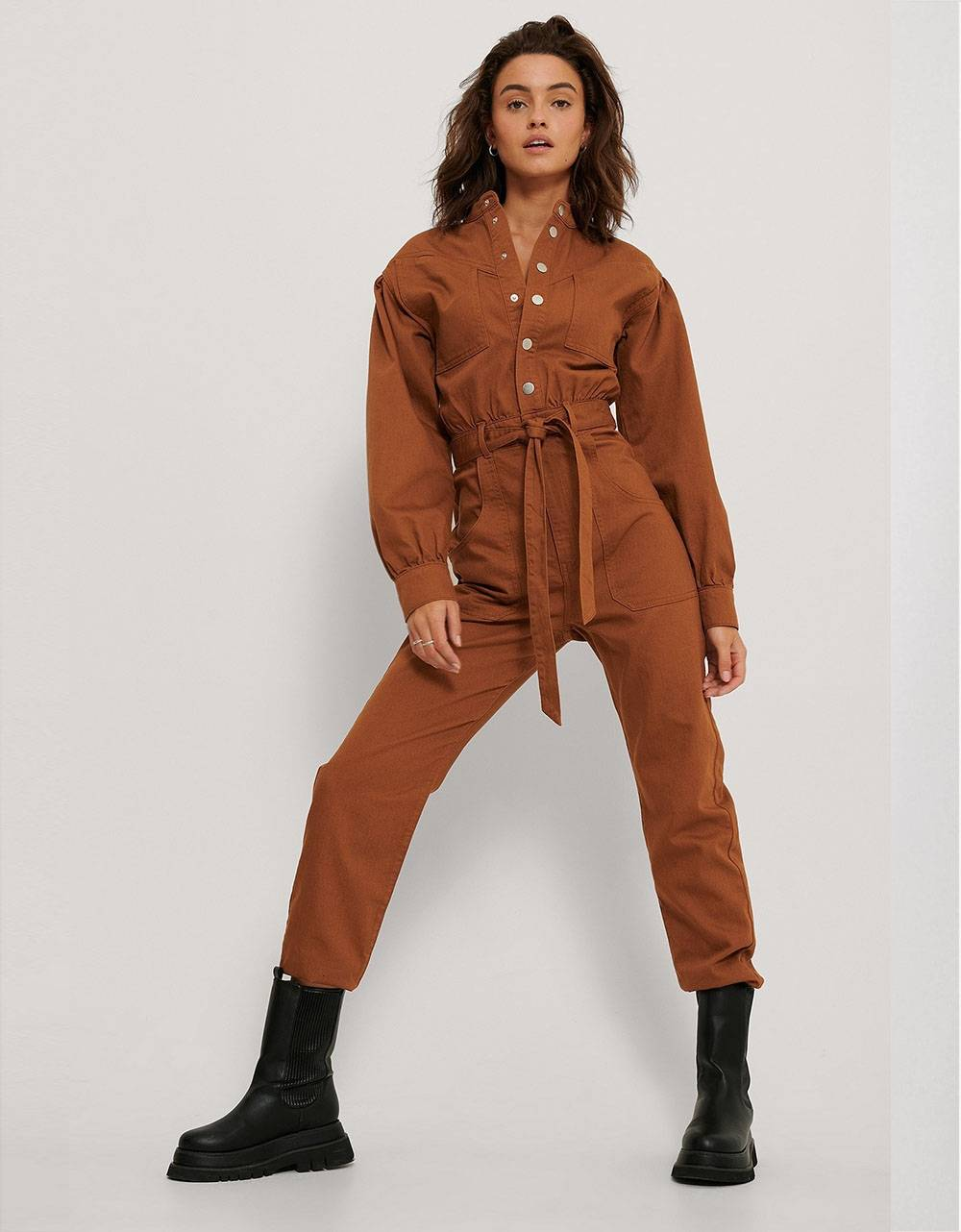 NA-KD colored denim jumpsuit - rust NA-KD Jeans 69,67 €