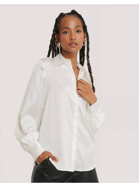 NA-KD hidden button shirt - off white NA-KD Shirt 65,00 €