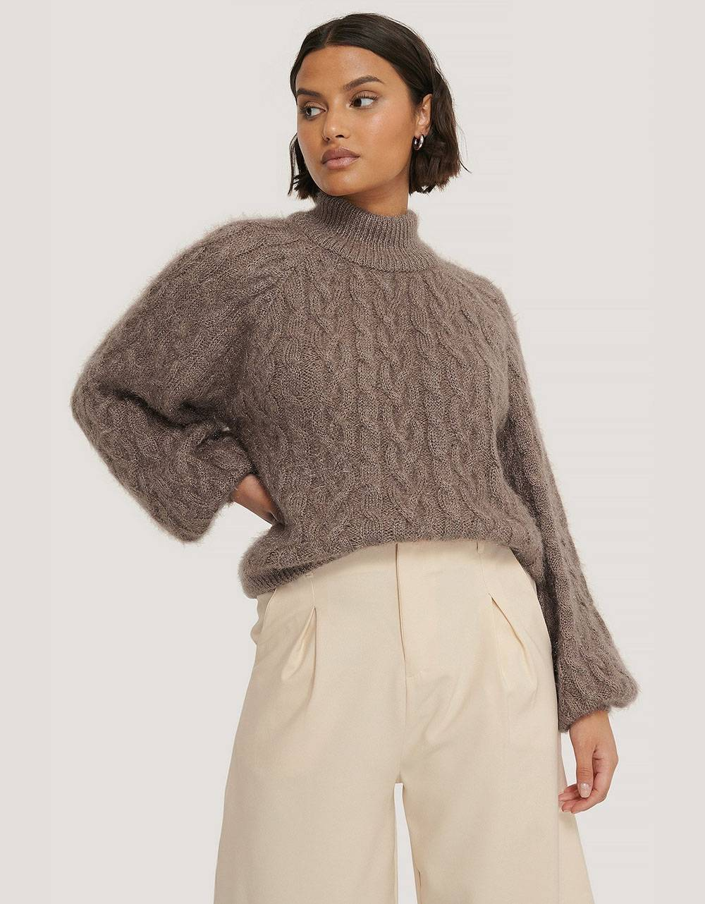 NA-KD cable hairy knitted sweater - nougat NA-KD Sweater 48,36€