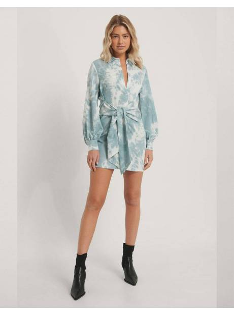 NA-KD front knot shirt dress - print NA-KD Dress 56,56€