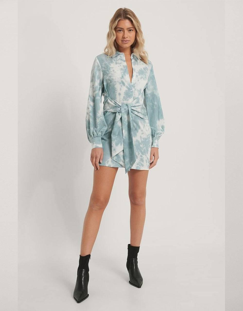 NA-KD front knot shirt dress - print NA-KD Dress 69,00€