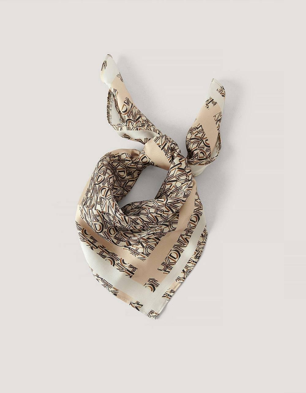 NA-KD logo satin scarf - beige combo NA-KD ACCESSORIES 13,93€