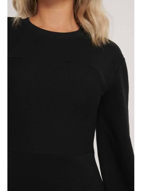 NA-KD ribbed detail jersey dress - black NA-KD Dress 53,28€