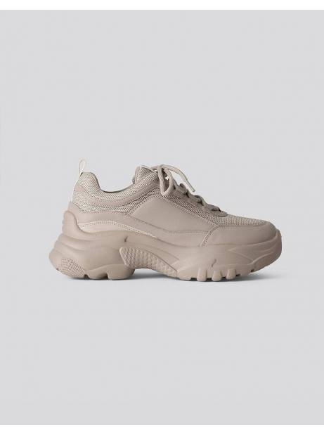 NA-KD sporty mesh trainers shoes - light khaki  NA-KD Sneakers 65,00€
