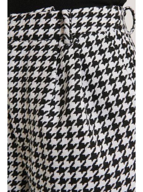 NA-KD wide leg houndstooth pants - white/black NA-KD Pants 69,67€