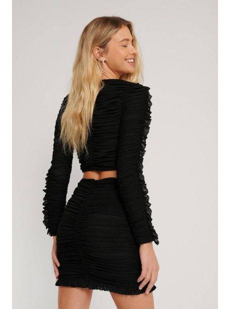 NA-KD frill detail gathered top - black NA-KD Sweater 45,08€