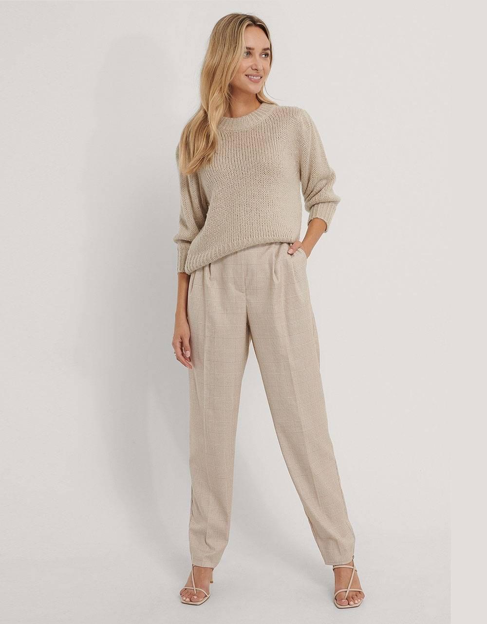 NA-KD pleat detail suit pants - check print NA-KD Pants 53,28€