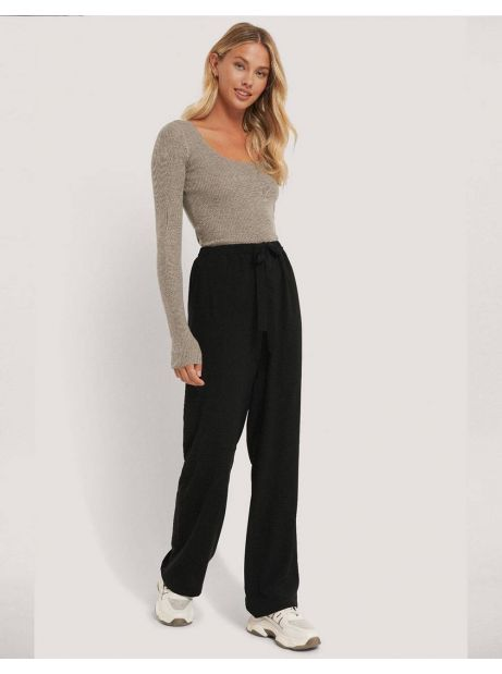 NA-KD tie belt wide leg pants - black NA-KD Pants 40,16 €
