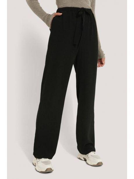 NA-KD tie belt wide leg pants - black NA-KD Pants 40,16€