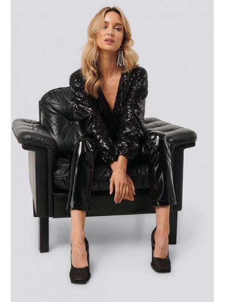 NA-KD overlap sequin top - black NA-KD Sweater 40,98€