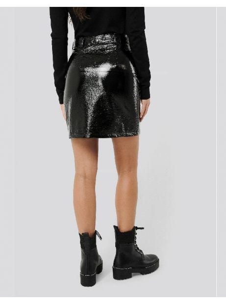 NA-KD patent mini skirt - black NA-KD Skirt 53,28€
