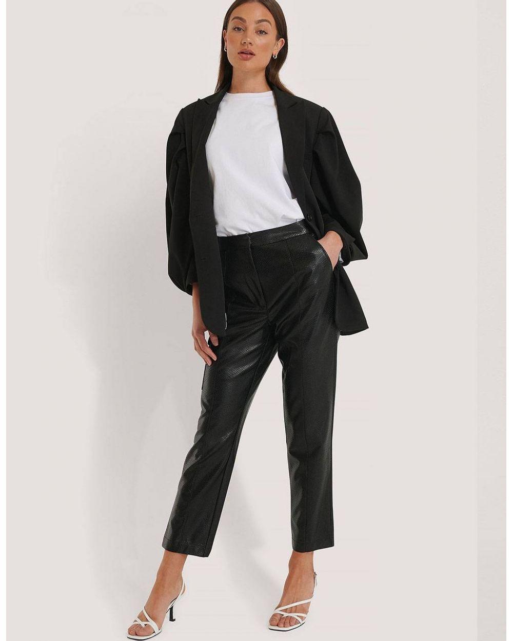 NA-KD pu reptile pocket pants - black NA-KD Pants 82,00€