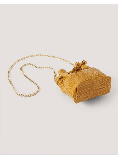 NA-KD mini bucket chain bag - yellow NA-KD Bags 20,00€