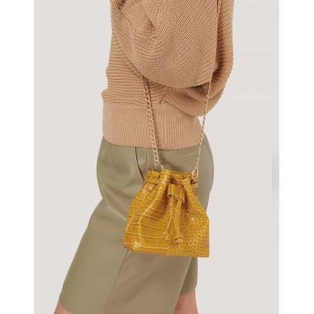 NA-KD mini bucket chain bag - yellow NA-KD Bags 16,39€