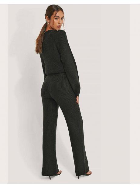 NA-KD High Waist Knitted Pants - black NA-KD Pants 62,00€