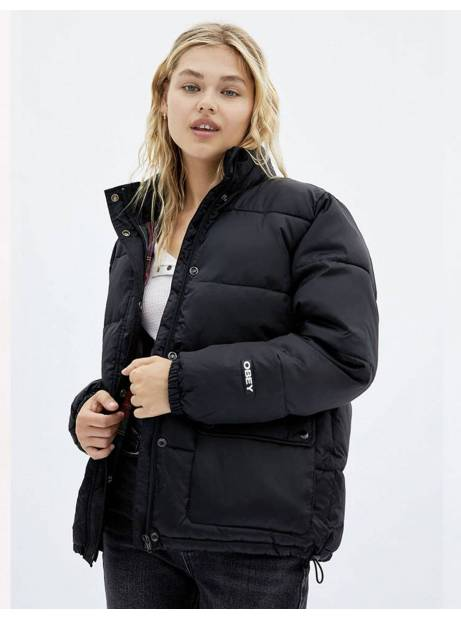 Obey Woman irving puffy coat - black obey Coat 185,00 €