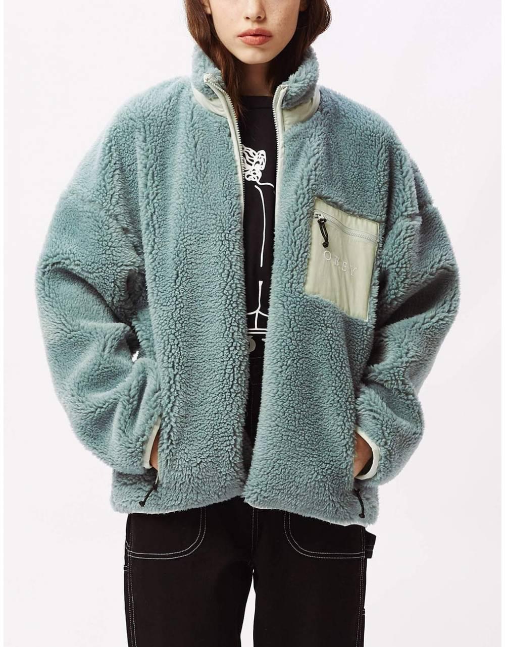 Obey Woman mesa sherpa jacket - mineral blue obey Jacket 151,64€