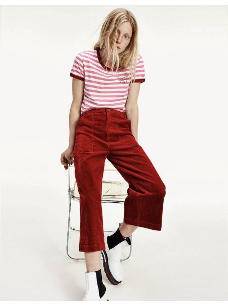 Tommy Jeans woman's Cord wide leg pant - wine red Tommy Jeans Pants 94,26 €