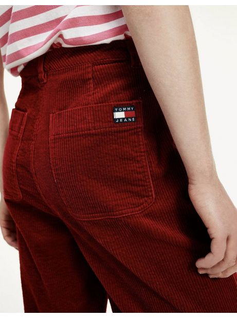 Tommy Jeans woman's Cord wide leg pant - wine red Tommy Jeans Pants 94,26€