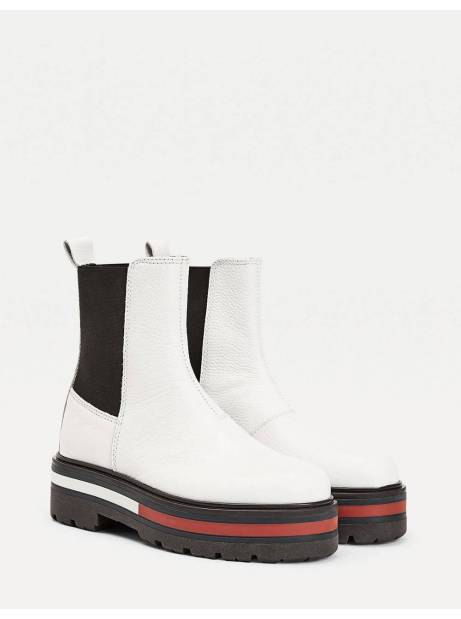 Tommy Jeans woman Flag outsole chelsea boot - White Tommy Jeans SHOES 146,72 €