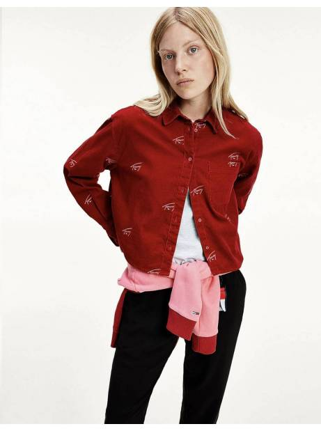 Tommy Jeans woman's Critter cord shirt - wine red Tommy Jeans Shirt 94,26 €