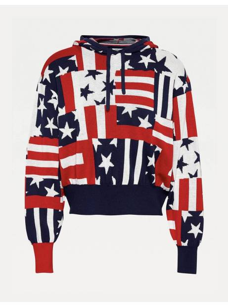 Tommy Jeans woman's Logo hoodie - Star stripe print Tommy Jeans Sweater 94,26€