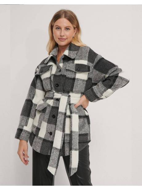 NA-KD belted jacket - checked NA-KD Coat 98,36 €