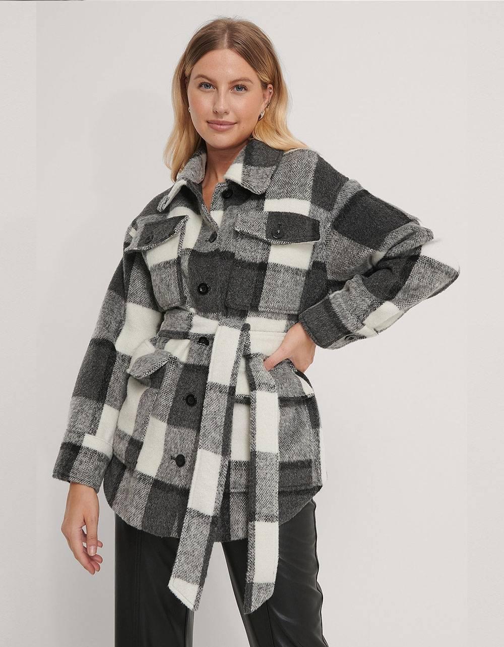 NA-KD belted jacket - checked NA-KD Coat 115,00€