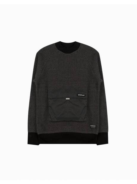 Cat Workwear Redefined Pocket knit sweater - dark grey CAT WORKWEAR REDEFINED Knitwear 119,00€